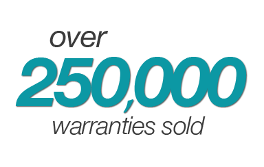 over 250,000 warranties sold